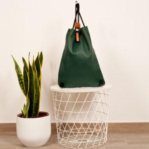 zaino in pelle verde oliva - Cinzia Rossi