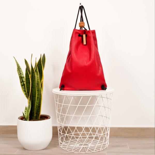 zaino in pelle rosso ciliegia - Cinzia Rossi