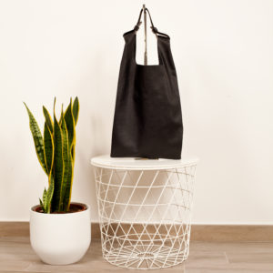 Black leather shopping bag - Cinzia Rossi