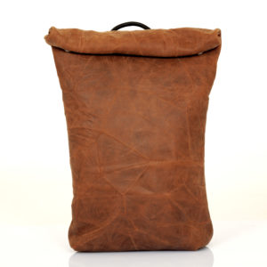 Zaino roll top in pelle sabbia - cinzia rossi