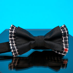 Cotton bow tie with black and white print - Cinzia Rossi