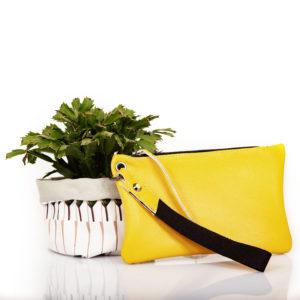 Pochette in pelle gialla - cinzia rossi