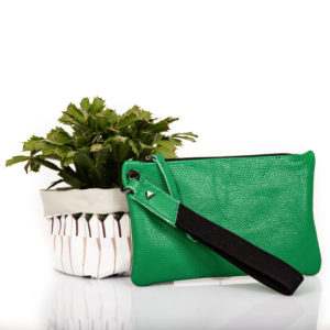 Pochette in pelle verde - cinzia rossi