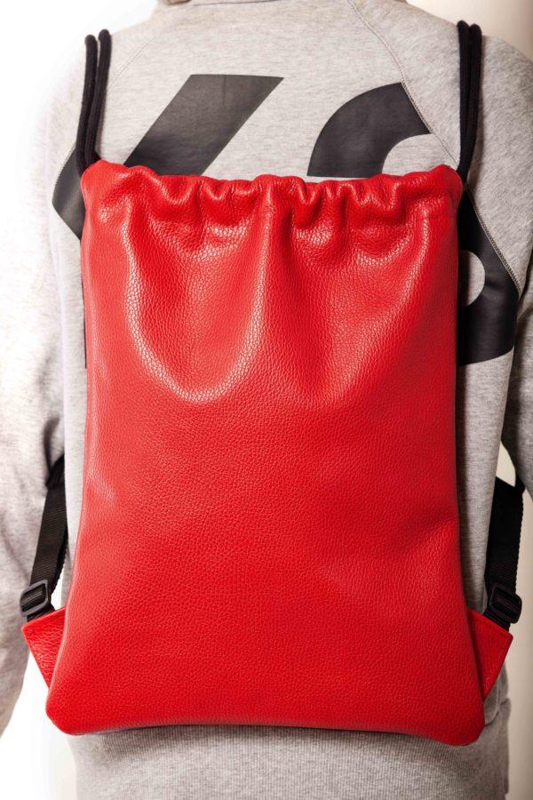 Zaino in pelle rossa - cinzia rossi