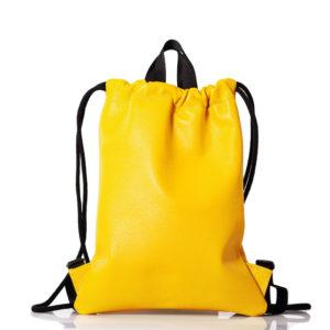 Mochila de cuero amarillo - Cinzia Rossi