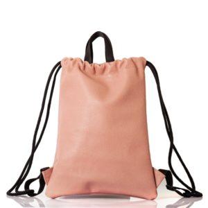 Mochila de cuero rosa polvo - Cinzia Rossi