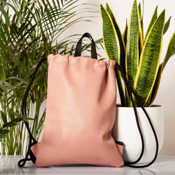 Powder pink leather backpack - Cinzia Rossi