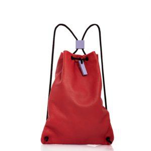 Mochila de cuero rojo - Cinzia Rossi