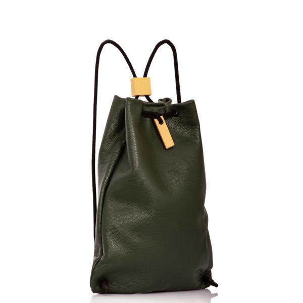 Zaino in pelle verde scuro - Cinzia Rossi