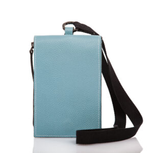 Smartphone case-bag in pelle azzuro - Cinzia Rossi