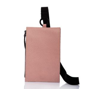 Smartphone case-bag in pelle rosa cipria - Cinzia Rossi