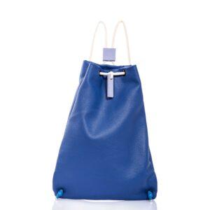 Zaino in pelle blu - Cinzia Rossi